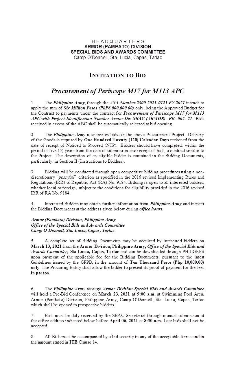 Procurement of Periscope